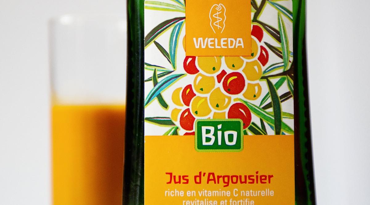 Cet hiver j'ai testé le jus d'argousier Weleda.