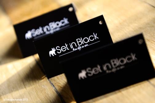 set in black